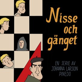 Omslag till serien Nisse och gänget, vinnare av tävlingen Bergman i Skåne 2018